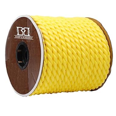 Twisted 3 Strand Polypropylene Rope, Yellow, 3/4