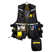 Terra Multi-Pocket Tool Vest, Black, One Size