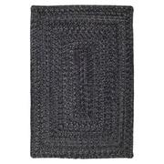 Homespice Decor Ultra-Durable Black Solid Indoor/Outdoor Area Rug; 4' x 6'