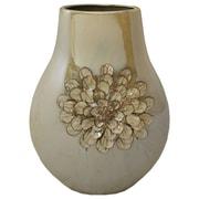EC World Imports Urban Designs Artisan Handcrafted Flower Round Accent Vase