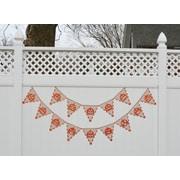 Heritage Lace Frightful Jack-O-Lantern Pennant Banner
