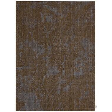 Calvin Klein Rugs Urban Abstract Brown Bark/Cobalt Area Rug