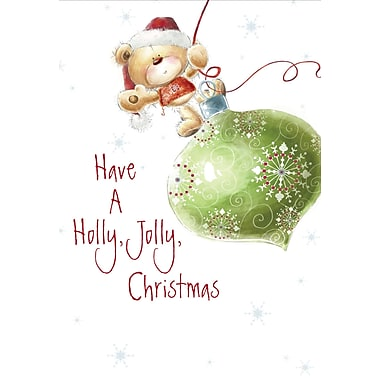 Holly Jolly Christmas, Teddy Bear, 18/Pack