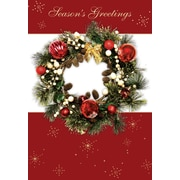 Season Greetings, Wreath, 18/Pack