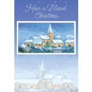 Christmas Blessings, Church & Snow, 18/Pack