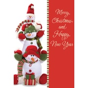 Merry Christmas & Happy New Year, Snowman, 18/Pack