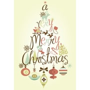 Merry Christmas, Ornaments, 18/Pack