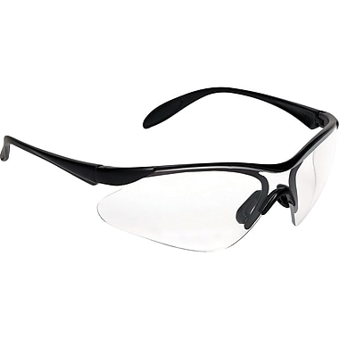 Js410 Jazz Eyewear, Clear, Black Frame, 12/Pack