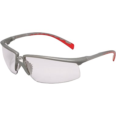 Safety Eyewear, Clear, Red Accent Colour, SAP460, 12/Pack