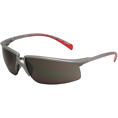 Safety Eyewear, Grey, Red Accent Colour, SAP461, 12/Pack
