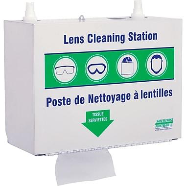 Stations de nettoyage de lunettes en métal, 2 bouteilles de solution 500 ml et 1 boîte de mouchoirs