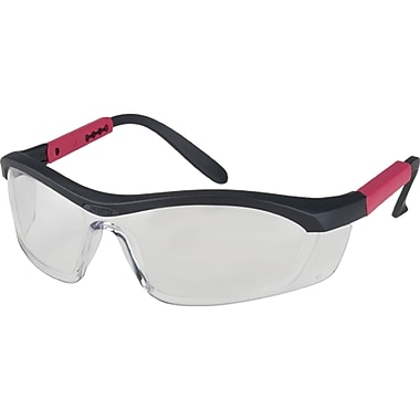 Tornado F5 Eye Protection, Clear, 12, Frame Colour, Black With Red Trim, 12/Pack