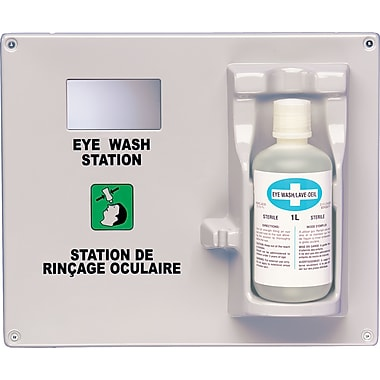 Eyewash Station And Solution, Say484, 3/Pack