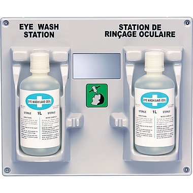 Eyewash Station And Solution, Say486, 2/Pack