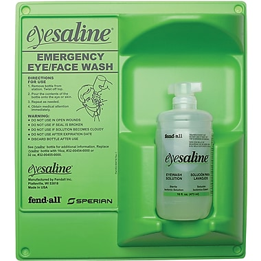 Saline Eyewash Wall Station, Sec474, 2/Pack