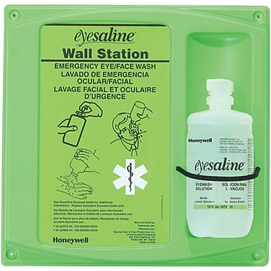 Saline Eyewash Wall Station, 2/Pack