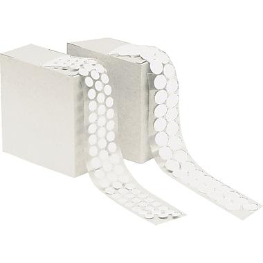 Aplix – Attache en rondelle à crochets peler et collez d'un diamètre 1/2 po, 500/rouleau, blanc (OC471)