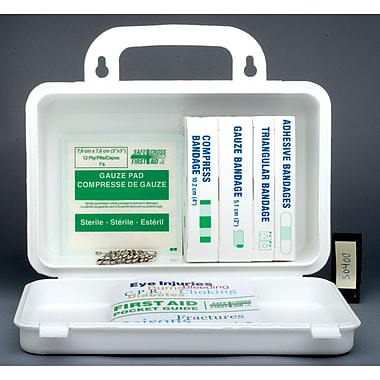 Ontario Regulation First Aid Kits, Container Type - 10-unit Metal, SAY154, 3/Pack