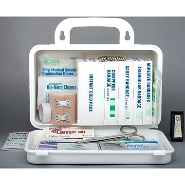 Ontario Deluxe Regulation First Aid Kits, Container Type - 10-unit Metal, SAY163, 2/Pack