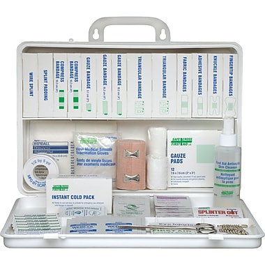 Ontario Deluxe Regulation First Aid Kits, Container Type - 36-unit Plastic, SAY165