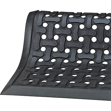 Comfort Flow Matting, Sar813, Black, 2/Pack