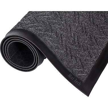 Essuie-pieds/grattoir - Tapis Chevron, Sax729, charbon