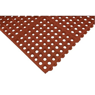 Anti-fatigue Link Mat, Sdl866, Maroon, 2/Pack