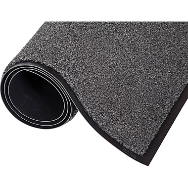 Proluxe-100% NG782 Olefin Super Drying Mat, 3' x 4', Charcoal, 2/Pack
