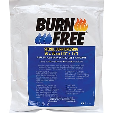 Burnfree Burn Dressing, 3/Pack, (SAJ502)