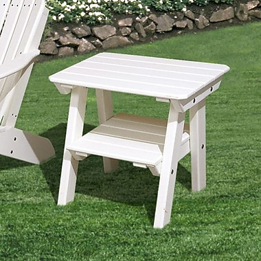 Little Cottage Company Heritage 2 Tier End Table; Bright White