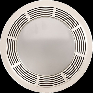 broan round 100 cfm exhaust bathroom fan w/ light and night light