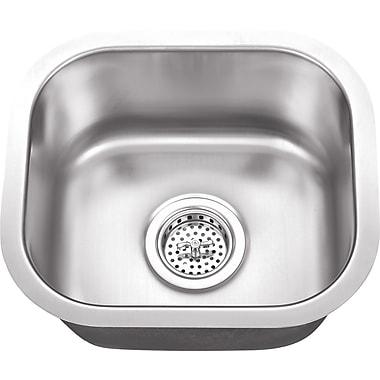Soleil 14.5'' x 13'' Single Bowl Undermount Bar Sink