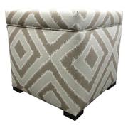 Sole Designs Tami Ottoman; Nouveau Platinum