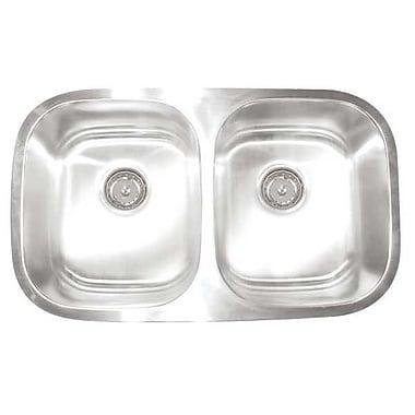 Artisan Sinks Premium Series 30'' x 17.75'' Double Bowl Undermount Kitchen Sink