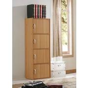 Hodedah 4 Door Storage Cabinet; Beech