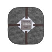 Bounce Comfort Bon Appetite Dining Chair Cushion (Set of 2); Dark Gray