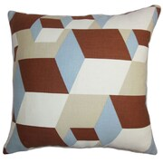 The Pillow Collection Fan Geometric Throw Pillow; 18'' x 18''