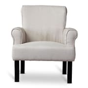 Wholesale Interiors Baxton Studio Classics Wing Armchair; Beige