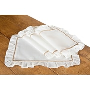 Xia Home Fashions Hemstitch/Ruffle Trim Placemat (Set of 4)