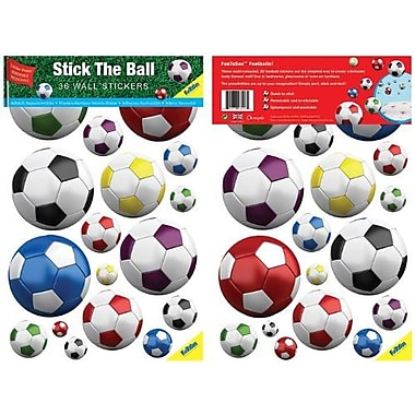 Fun To See Soccer Balls Nursery and Bedroom Wall Decal; Multicolored