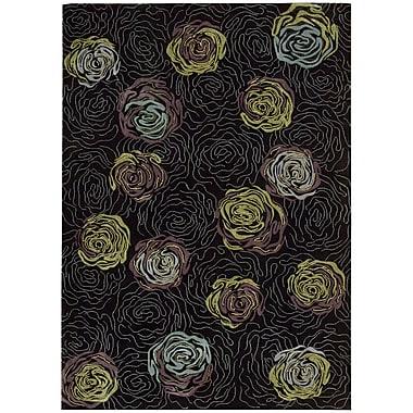 Nourison Parallels Black Area Rug; 3'6'' x 5'6''