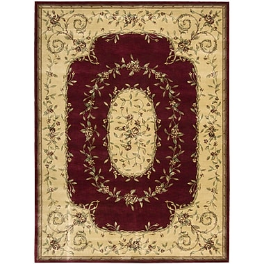 Nourison Chambord Burgundy Area Rug; Rectangle 5'6'' x 7'5''
