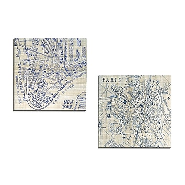 Portfolio Canvas New York Square by Ruth Bush 2 Piece Graphic Art on Wrapped Canvas Set