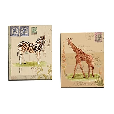 Portfolio Canvas Africana Giraffe by Lisa Ven Vertloh 2 Piece Painting Print on Wrapped Canvas Set