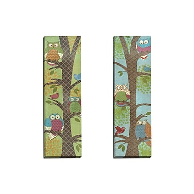 Portfolio Canvas Fantasy Owls Panel I by Paul Brent 2 Piece Graphic Art on Wrapped Canvas Set