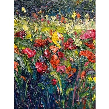 HadleyHouseCo Thick Bloom by Jeff Boutin Painting Print on Wrapped Canvas; 18'' H x 24'' W x 1.5'' D