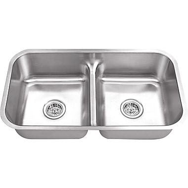 Soleil 32.38'' x 18.13'' Double Bowl Kitchen Sink