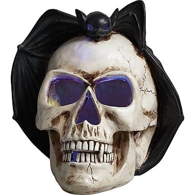 Transpac Imports, Inc Halloween Skull with Bat LED Screamer Figurine