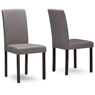 Wholesale Interiors Baxton Studio Side Chair (Set of 4); Grey