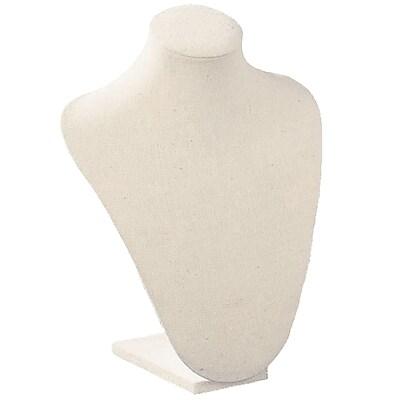 Tripar Cream Linen Neck Form Displays, 8/Carton (35720)